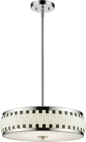 Z-Lite 2008-16CH-LED LED Pendant Sevier Collection Black and White Finish - ZLiteStore