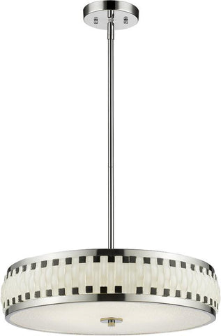 Z-Lite 2008-19CH-LED LED Pendant Sevier Collection Black and White Finish - ZLiteStore