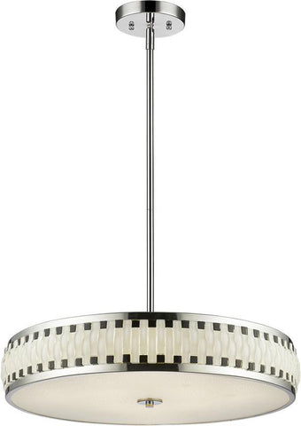 Z-Lite 2008-23CH-LED LED Pendant Sevier Collection Black and White Finish - ZLiteStore
