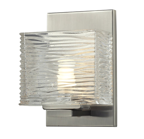 Z-Lite 3024-1V-LED Jaol Collection Brushed Nickel Finish 1 Light Vanity Light