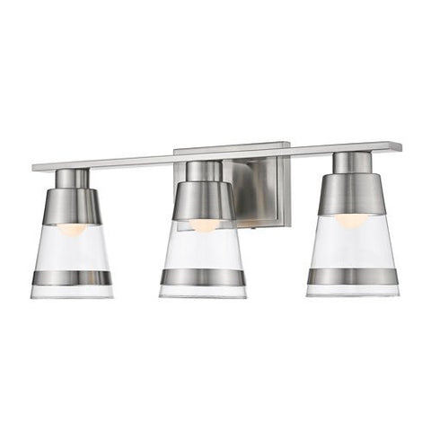 3-Light Vanity with Clear Glass Shade