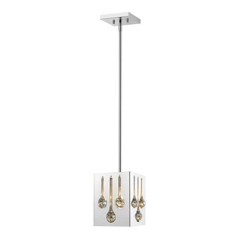1-Light Pendant in Chrome Finish