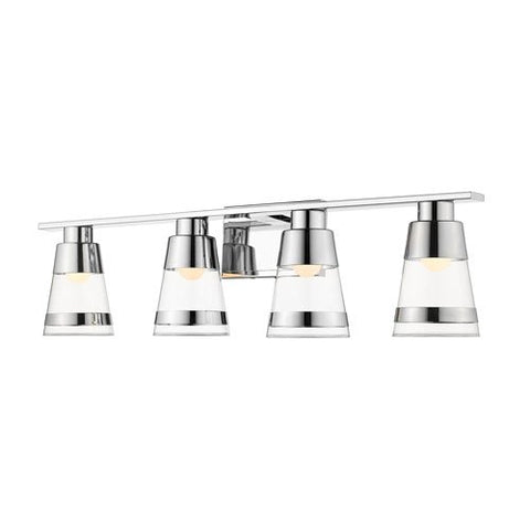 4-Light Vanity in Chrome Finish