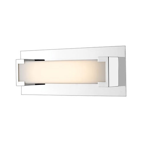 1-Light Steel Wall Sconce with Frosted Acrylic Shade