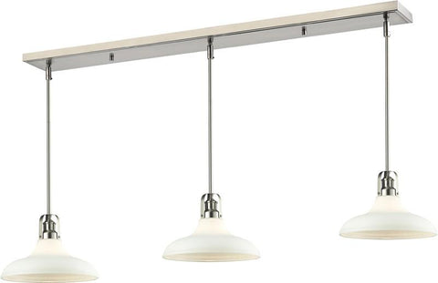 Z-Lite 324-13MP-3BN 3 Light Island/Billiard Light Forge Collection Matte Opal Finish - ZLiteStore