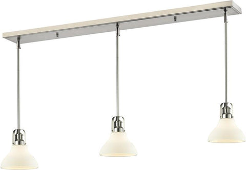 Z-Lite 324-8MP-3BN 3 Light Island/Billiard Light Forge Collection Matte Opal Finish - ZLiteStore