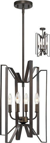 Z-Lite 4000-4BRZ 4 Light Pendant Marsala Collection - ZLiteStore