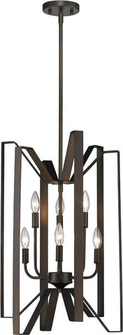 Z-Lite 4000-6BRZ 6 Light Pendant Marsala Collection - ZLiteStore