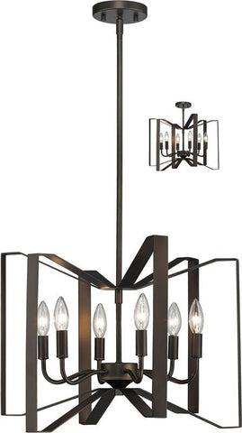 Z-Lite 4000P-BRZ 6 Light Pendant Marsala Collection - ZLiteStore