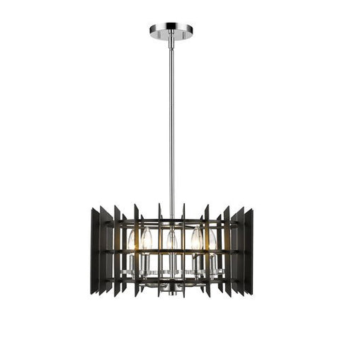5-Light Pendant in Chrome Finish