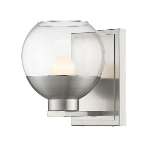 1-Light Wall Sconce with Clear Glass Shade
