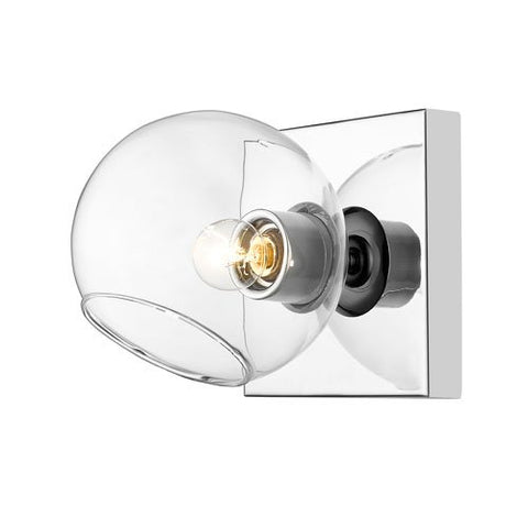 1-Light Wall Sconce in Chrome