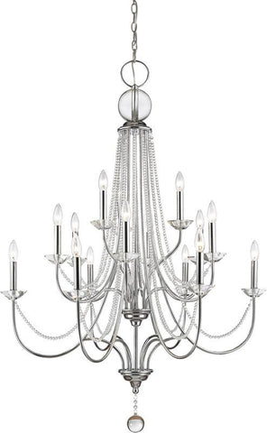 Z-Lite 429-15-CH 15 Light Crystal Chandelier Serenade Collection Clear Finish - ZLiteStore