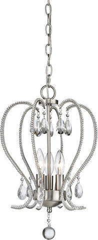 Z-Lite 429-3-BN 3 Light Chandelier Serenade Collection Clear Finish - ZLiteStore