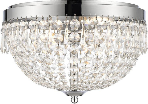 Z-Lite 431F4-CH 4 Light Flush Mount Danza Collection Clear Finish - ZLiteStore