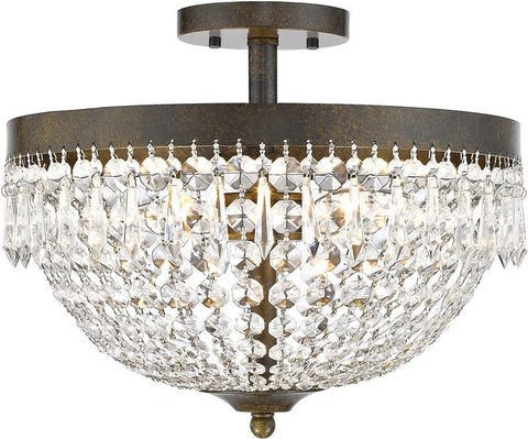 Z-Lite 431SF4-GB 4 Light Semi Flush Mount Danza Collection Clear Finish - ZLiteStore