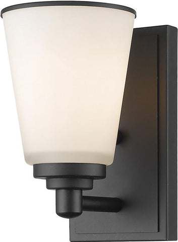 Z-Lite 432-1S-BRZ 1 Light Wall Sconce Jarra Collection White Finish - ZLiteStore