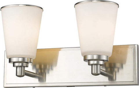 Z-Lite 432-2V-BN 2 Light Vanity Light Jarra Collection White Finish - ZLiteStore