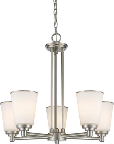 Z-Lite 432-5BN 5 Light Chandelier Jarra Collection White Finish - ZLiteStore