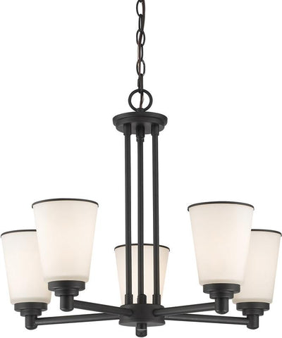 Z-Lite 432-5BRZ 5 Light Chandelier Jarra Collection White Finish - ZLiteStore