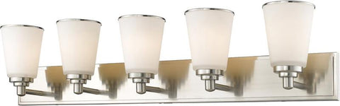 Z-Lite 432-5V-BN 5 Light Vanity Light Jarra Collection White Finish - ZLiteStore
