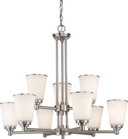 Z-Lite 432-9BN 9 Light Chandelier Jarra Collection White Finish - ZLiteStore