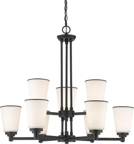 Z-Lite 432-9BRZ 9 Light Chandelier Jarra Collection White Finish - ZLiteStore
