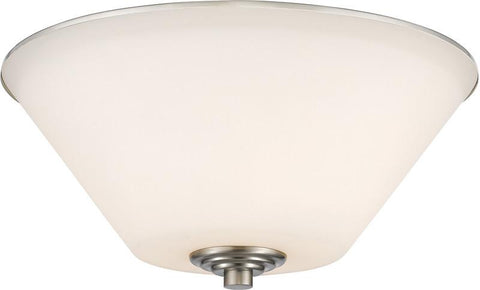 Z-Lite 432F2-BN 2 Light Flush Mount Jarra Collection White Finish - ZLiteStore