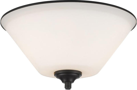 Z-Lite 432F2-BRZ 2 Light Flush Mount Jarra Collection White Finish - ZLiteStore