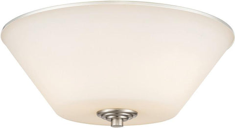 Z-Lite 432F3-BN 3 Light Flush Mount Jarra Collection White Finish - ZLiteStore