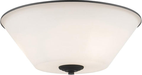 Z-Lite 432F3-BRZ 3 Light Flush Mount Jarra Collection White Finish - ZLiteStore
