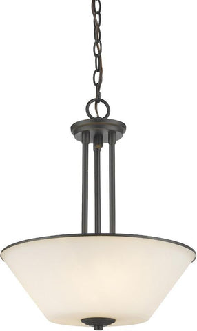 Z-Lite 432P-BRZ 3 Light Pendant Jarra Collection White Finish - ZLiteStore