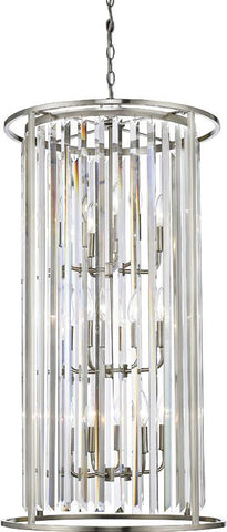 Z-Lite 439-12BN 12 Light Chandelier Monarch Collection Clear Finish - ZLiteStore
