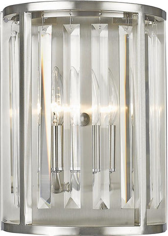 Z-Lite 439-2S-BN 2 Light Wall Sconce Monarch Collection Clear Finish - ZLiteStore