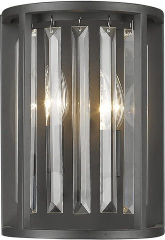 Z-Lite 439-2S-BRZ 2 Light Wall Sconce Monarch Collection Clear Finish - ZLiteStore