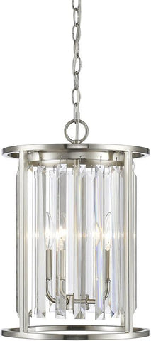Z-Lite 439-3BN 3 Light Chandelier Monarch Collection Clear Finish - ZLiteStore
