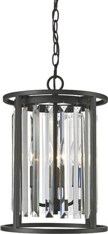 Z-Lite 439-3BRZ 3 Light Chandelier Monarch Collection Clear Finish - ZLiteStore