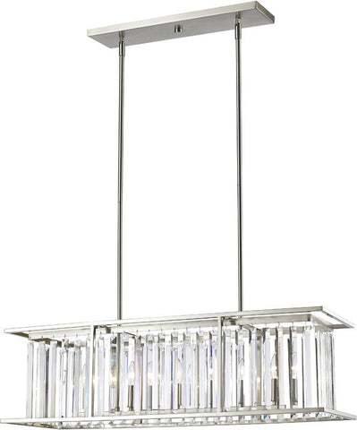 Z-Lite 439-40BN 6 Light Pendant Monarch Collection Clear Finish - ZLiteStore
