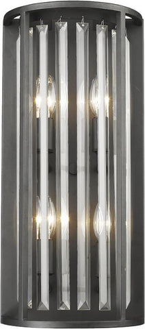 Z-Lite 439-4S-BRZ 4 Light Wall Sconce Monarch Collection Clear Finish - ZLiteStore