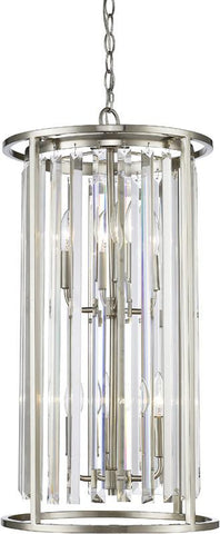 Z-Lite 439-6BN 6 Light Chandelier Monarch Collection Clear Finish - ZLiteStore