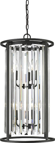 Z-Lite 439-6BRZ 6 Light Chandelier Monarch Collection Clear Finish - ZLiteStore