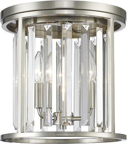 Z-Lite 439F12-BN 3 Light Flush Mount Monarch Collection Clear Finish - ZLiteStore