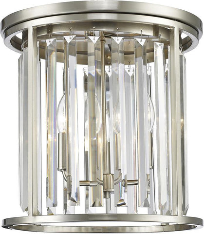 Z-Lite 439F14-BN 3 Light Flush Mount Monarch Collection Clear Finish - ZLiteStore