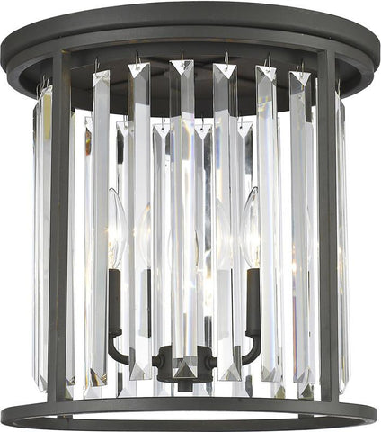 Z-Lite 439F14-BRZ 3 Light Flush Mount Monarch Collection Clear Finish - ZLiteStore