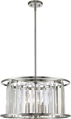 Z-Lite 439P-BN 6 Light Pendant Monarch Collection Clear Finish - ZLiteStore