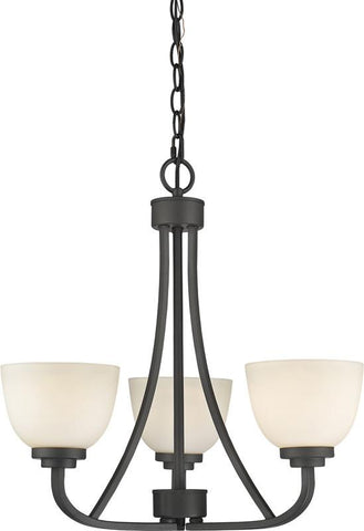 Z-Lite 443-3-BRZ 3 Light Chandelier Ashton Collection Matte Opal Finish - ZLiteStore