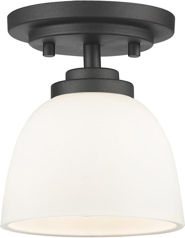 Z-Lite 443F1-BRZ 1 Light Flush Mount Ashton Collection Matte Opal Finish - ZLiteStore