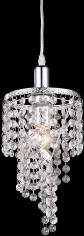 Z-Lite 51042 1 Light Mini Chandelier Petite Chandeliers Collection Crystal Finish - ZLiteStore
