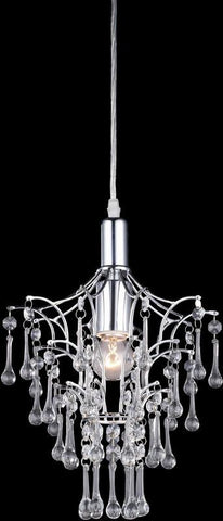 Z-Lite 51046 1 Light Mini Chandelier Petite Chandeliers Collection Crystal Finish - ZLiteStore