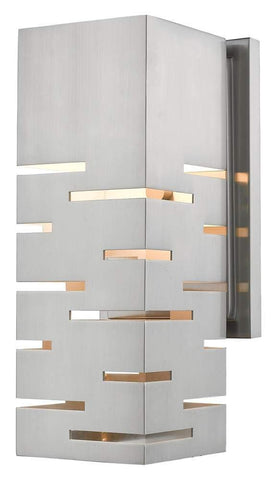 1-Light Wall Sconce in Brushed Nickel Finish